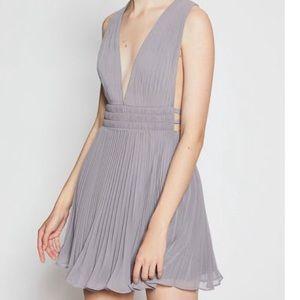 NWT Frame Briella Pleated Lilac Mini Dress